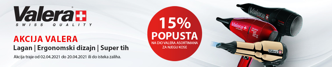 Akcija 15 posto VALERA Travanj 2021