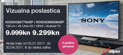 Akcija SONY KD55XD85xx siječanj 2017.