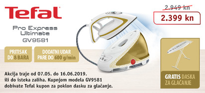 Akcija - TEFAL GV9581 svibanj i lipanj