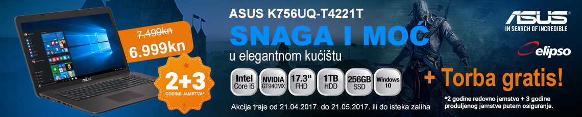 asus k756uq-t4221t akcija 2017
