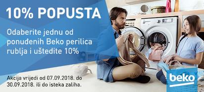 Beko perilice rublja rujan 2018