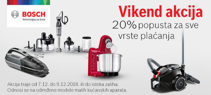 Bosch MKA vikend akcija 7.12.do 9.12.