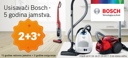 Bosch usisivači 5 godina jamstva