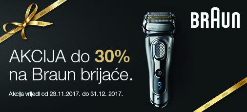 Braun aparati za brijanje studeni