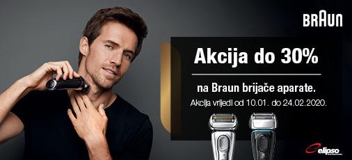 braun brijaći aparat 10.01.- 24.02.2020