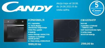 candy fcp605nxl i ploča cib633v4tp