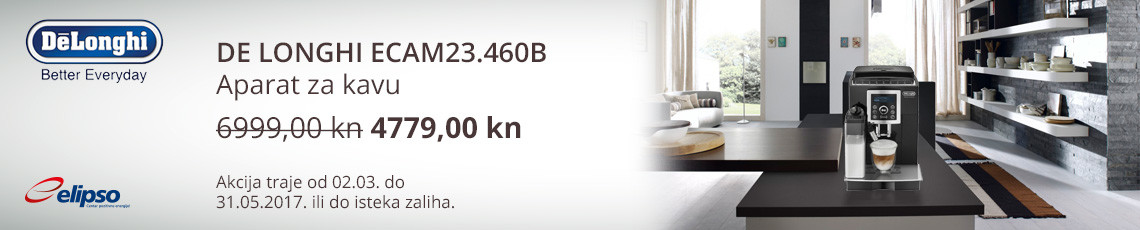 de longhi ecam23.460b akcija