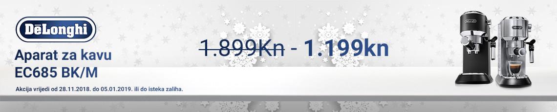 delonghi  ec685m i ec685bk akcija zima