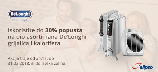 delonghi akcija grijanje do 30 posto