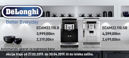 delonghi ecam22.110 aparati za kavu 2019