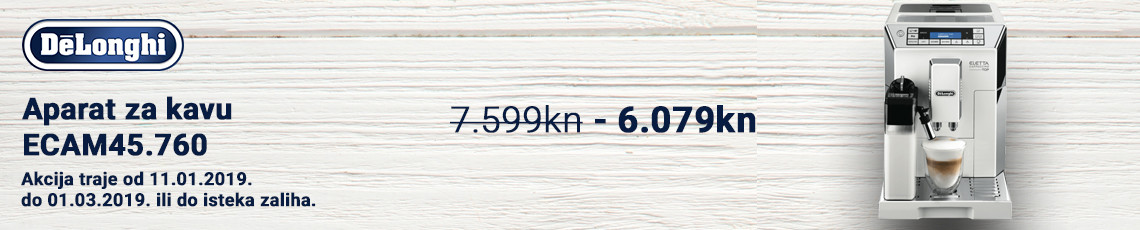 delonghi ecam45.760w akcija 2019