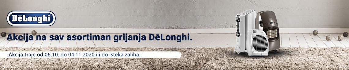 DeLonghi grijanje akcija listopad