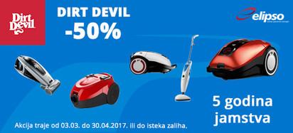 dirt devil akcija 50 posto