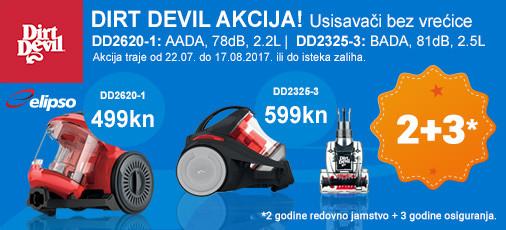dirt devil dd2325 i dd2620 akcija
