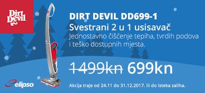 dirt devil dd699-1 2u1 usisavač akcija