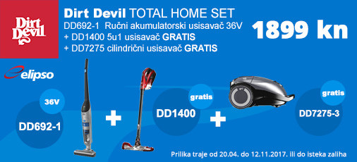 dirt devil total home set akcija