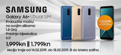 galaxy a6 plus akcija veljača.