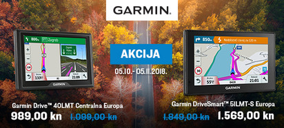 Garmin - akcija cesta listopad 2018.