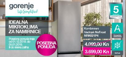 Gorenje hladnjak NRK621PS4 12.mj
