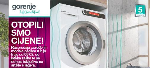 gorenje rasprodaja perilica rublja