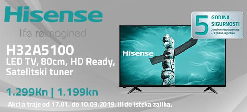 hisense h32a5100 akcija 2019