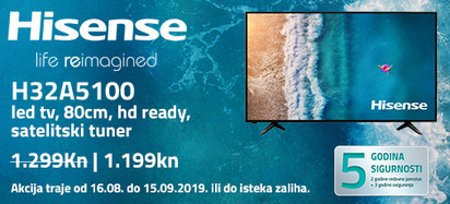 Hisense h32a5100 akcija kolovoz