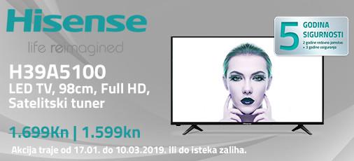 hisense h39a5100 akcija 2019