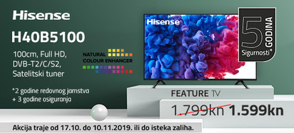 hisense h40b5100 akcija listopad