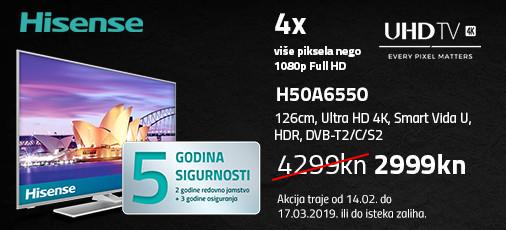 hisense h50a6550 akcija