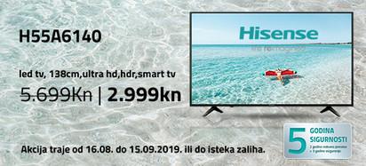 hisense h55a6140 akcija kolovoz