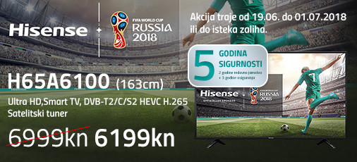 hisense h65a6100 akcija 2018