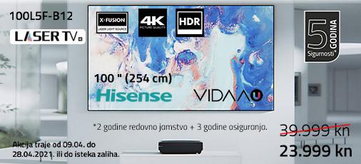 hisense laser tv 100l5f  akcija travanj