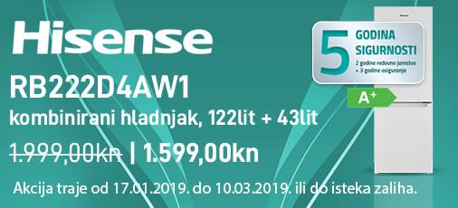 hisense rb222d4aw1 akcija 2019