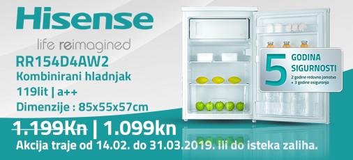 hisense rr154d4aw2 akcija