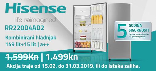 hisense rr220d4ad2 akcija 2019