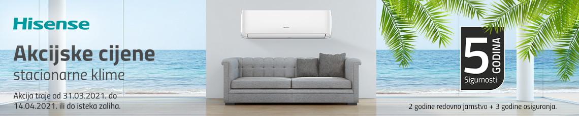 Hisense stacionarni klima uređaji akcija