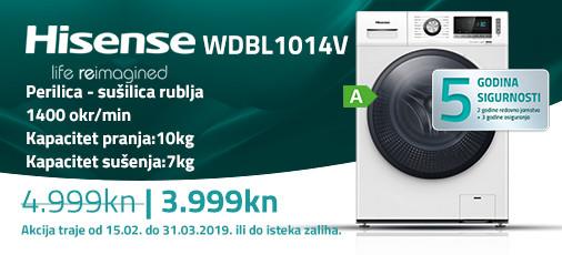hisense wdbl1014 akcija 2019