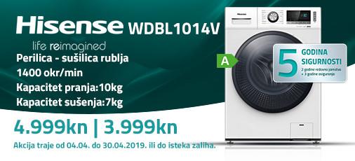 hisense wdbl1014 akcija travanj