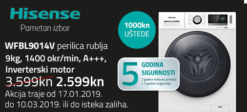 hisense wfbl9014 akcija 2019