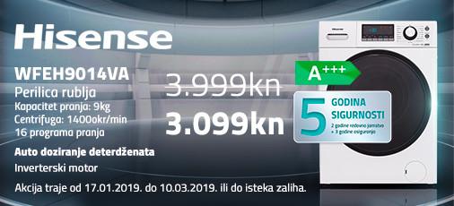 hisense wfeh9014va akcija 2019