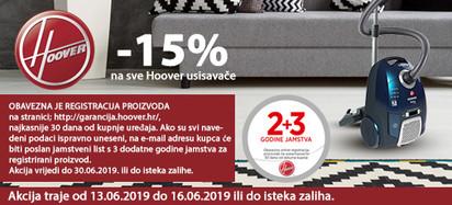 Hoover usisvači -15 posto