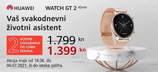 huawei watch gt2 42mm zlatni akcija