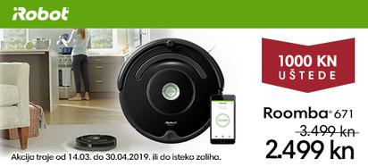 iRobot Roomba 671 na akciji