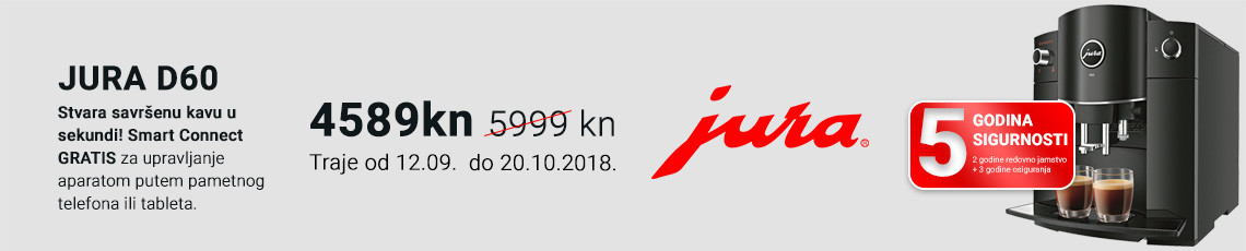 jura d60+smart connect akcija rujan 2018
