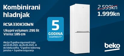 kombinirani hladnjak rcsa330k30wn