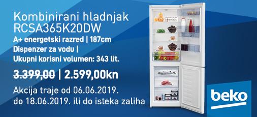 kombinirani hladnjak rcsa365k20dw