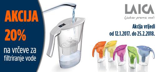 Laica vrčevi za filtriranje vode 1 mjese