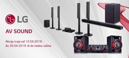 LG Sound Akcija Travanj 2019