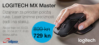 Logitech MX Master Akcija Travanj 2017