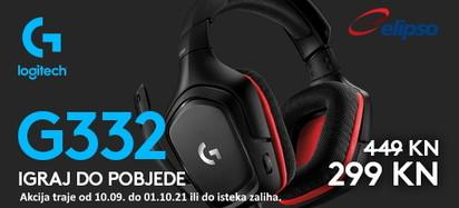 logitech - akcija gaming g332 rujan 2021